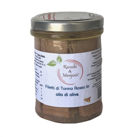 Filetti di tonno rosso da 200 gr in olio di oliva